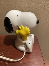 Vintage Willitts Snoopy Holding Woodstock Night Light