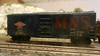 Athearn  BB 40' Boxcar, Custom Lettered MNS, Upgraded, Weathered, Exc