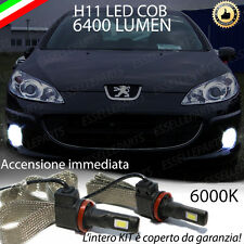 COPPIA LAMPADE H11 LED CANBUS FENDINEBBIA PEUGEOT 407 6400L 6000K