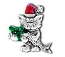 Chelsea Pewter Weihnachten Brosche. Die katze bringt dir ein Geschenk ...