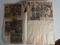 1942 - 1945 WW2 Australian News Paper Articles Clippings  In Scapbook