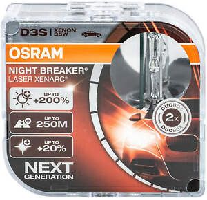 2X Xenon D3s Brenner Lampe Osram Scheinwerfer Xenarc Birnen Night Breaker Las AC