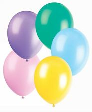 """50 Biodegradable Pastel Assorted Balloons - Helium quality, 12"""""""