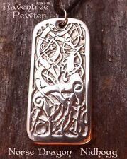 Norse Dragon-Nidhogg - Pewter Pendant - Norse Celtic Jewelry,World Tree Dragon