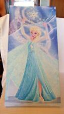 "Elsa In Sparkle Gown Frozen With Glitter Canvas Print Disney 12""x24"""