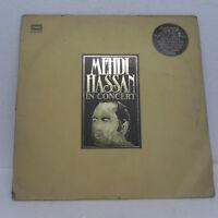MEHDI HASSAN IN CONCERT Ghazals 1976 Rare 2 LP Record Set Bollywood Indian