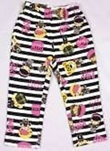 GIRLS BLACK AND WHITE STRIPED CASUAL BOTTOM 18-24, 2-3, 3-4, 4-5, 5-6 YEARS
