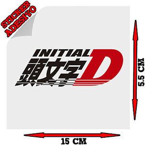 Sticker Adesivo Decal INITIAL D logo Auto Moto Tuning