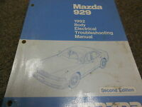1992 Mazda 929 Body Electrical Wiring Diagram Troubleshooting Service Manual 92