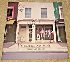 MUMFORD AND SONS FULL BAND SIGNED SIGN NO MORE VINYL MARCUS BEN WINSTON PSA/DNA