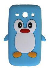 Blu Chiaro Silicone Pinguino Custodia Per Telefono/Cover per Samsung Galaxy