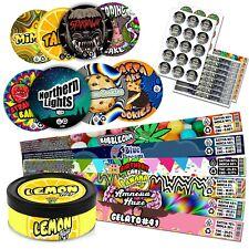 30x Stickers Cali Cookies Jars PRESS IT IN TINS TUNA CAN PRESSITIN LABELS Jungle