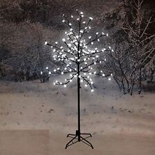 NEW 150CM LED BLOSSOM TREE WHITE CHRISTMAS INDOOR DECORATION OUTDOOR HOME XMAS