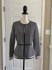 LK Bennett Suiting Blazer jacket balck and white sz M