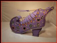 Tea light Lamp Purple Boot Decorative Candle Holder Light Metal Moon Stars Shoe