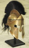 Medieval 300 Movie Spartan Ancient Medieval Armour Helmet With Wooden Stand Gift