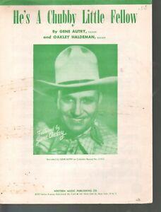 He's A Chubby Little Fellow 1949 Gene Autry Christmas Sheet Music