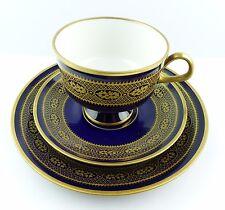 #e5160 kaffeegedeck de luz RDA real cobalto con oro Dekor