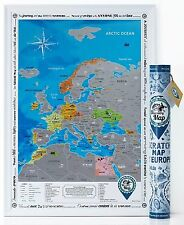Super Detailed Scratch Off Europe Map Poster Traveler Personalized Pin It Maps