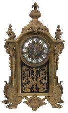 VERY RARE Antique French figural dolfins Putti  Bronze  Mantel console   Clock