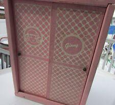 Vogue Ginny Doll Furniture Pink Wardrobe Sliding Doors Custom Design 1955 #922