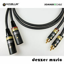 2x 3m Adapterkabel GALILEO VIABLUE /Sommer Cable 3,00/ XLR Cinch male…High End