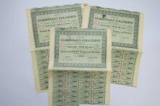 COMPAGNIE DES CHARBONNAGES D EKATHERINE ACTION DE 100 FRANCS 1927 X 28 ACTIONS