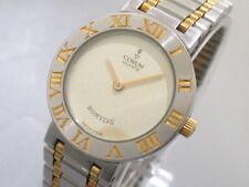 Auth CORUM Romulus 47103.21V48 Silver Gold Women's Wrist Watch 410962