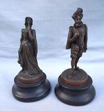 Antique French Bronze Henri IV and Maria de Medici Sculpture Figure Circa 1830