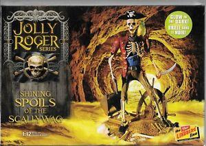 Lindberg Jolly Roger, SHINING SPOILS SCALLYWAG Skeleton Pirate Model 1/12 614 ST