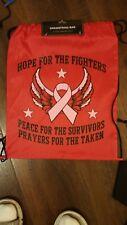 Breast Cancer Awareness Backpack red nylon backpack travel shoulder drawstring