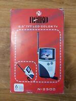 "Naiko N-2500 2.5"" TFT LCD Color TV Handheld Portable Brand New - Free P&P"
