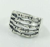 Fashion Men's Woman 316L Stainless Steel Vogue Design Mini Skull Ring Size 11