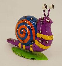 Dekobote, Metall Schnecke L23cm bunt lustig  Gartendeko Gartenfigur Tier bemalt