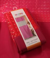 Peva Shower Curtain 3-D Hot Pink And Fuschia New With Tags Bathroom