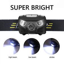 LED Kopflicht Wiederaufladbar Taschenlampe Stirnlampe Headlamp Sensorschalter