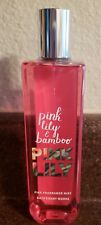 Bath & Body Work Pink Lily & Bamboo  Fragrance Mist  8 oz Spray NEW