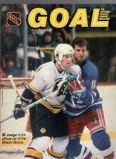 1987 GOAL HOCKEY PROGRAM MAGAZINE-BOSTON BRUINS VS. CHICAGO BLACKHAWKS