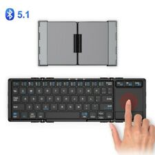 iClever Keyboard Folding Bluetooth USB Touch Pad IC-BK08 Dark Gray