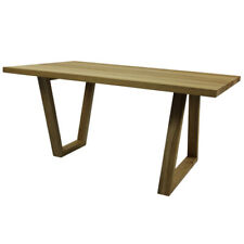 Solid Oak Coffee Table - unusual asymmetry of the legs