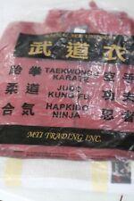 "Winners Zone Swift Karate Martial Art Uniform Gi Red Jacket Pants Size #1 4'9"""