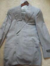 Mens D'Avenza Light GRAY wool Suit New With Tags 42L
