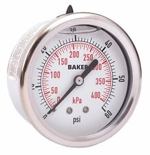 Baker AHNC-60P Pressure Gauge, 0-60 PSI / 0-400 kPa