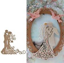 Wedding Couple Metal Cutting Dies Scrapbooking Valentine Embossing Making Stenci