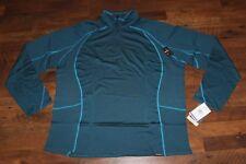 $104 New CABELAS Ultimate Lightweight Merino Wool Quarter Zip Top 2XL Women Teal