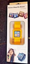 NEW AXION WRISTWATCH SLAP ON BAND FOR IPOD NANO 6TH GENERATION YELLOW AN-1115