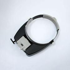 Head Set Loupe Glass Led Multi Magnifier Visor Magnifying With Jeweler Light