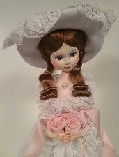 Bradley Doll A Beauty Boxed White Lace Dress & Hat Wonderful Face Vintage 1978