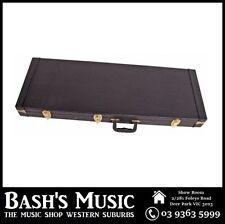 Electric Guitar Rectangular Hard Case Plywood Strat Tele Shaped Black