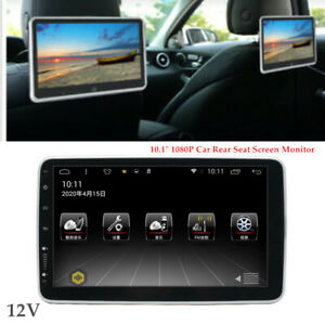 """10.1"""" 1080P Car Rear Seat Screen Monitor Android 9.1 Headrest MP5 Player Set"""
